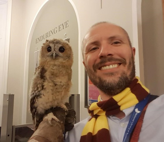 stweart with owl