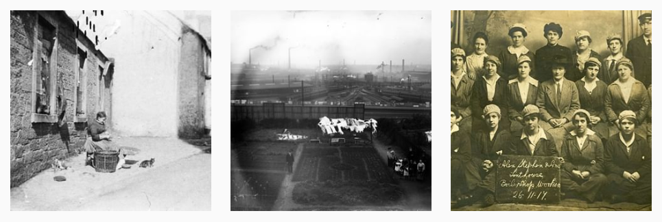 Three Instagram photos - all old showing industrial themes
